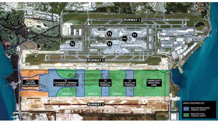 樟宜机场集团宣布委任三个咨询团队,担任樟宜机场第五搭客大厦主建筑顾问。